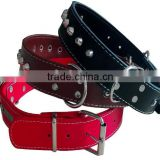 CY114 Wholesale PU Lady Dog Collar Comfort Leather Single Row Rivets Collar Alloy Spikes Gentle rivet Dog Collar