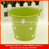 Dot Printing Green Small Metal Buckets
