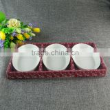 Unique boat shaped small plate, white porcelain baking dish, cheap china dish for restaurant and home use in good quality