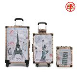 Euramerican style retro trolley luggage