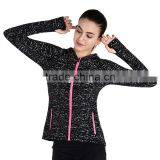2017 Running Luminous Sport Exercise Set Yoga Gym Women Wear Sportswear Fitness Hooded Clothes And Pants