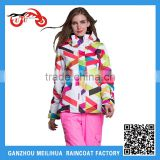 2015 Hot Sale Women's High Quality Waterproof Fleece Colorful Skiing Jacket Snowboard Jacket