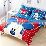 Mickey Mouse Cartoon Bedding Set, Baby Bedding Set for Kids, High Quality Cotton Bedding set