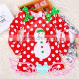 2015 OEM wholesale red kids long sleeve christmas party pettiskirts dresses