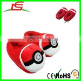 china suppliers pokemon ball plush kids shoes for winter