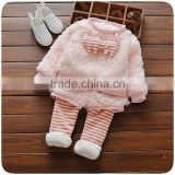 B41002A Cute children clothing sets girls sweatshirt and trousers