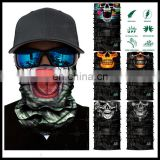 High quality 100% Polyester Cool design skull face mask bandana for sport