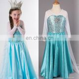 cute long sleeve carnival costume elsa dress frozen elsa costume FC2016