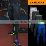 Yiwu factory cheap wholesale gym wear men sport leggings 88% polyester 12% spandex