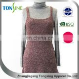woman's Winter vest dress with side of the lotus leaf