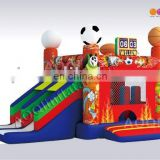 AOQI new design inflatable combo and slide outdoor kids playhouse