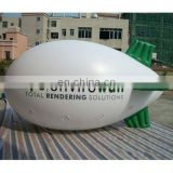 white inflatable helium blimp Airship (cube or balloon) for advertising use with customized logos