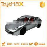 Realistic 4 channel gray radio control model car 1:18 for kids