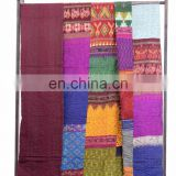 Indian King Kantha Quilt Handmade Patchwork Silk Quilt Blanket Throw Gudari