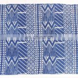 Indian Handmade Blue Indigo Dyed Hand Block Print Cotton Kilim Rug Carpet Area Rug Home Rug 4x6 Ft