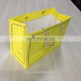 Stronger yellow paper bag with Nylon rope gift paper bag for men leather shoes