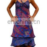 latest beach silk dress vintage silk dress party dress vintage sari silk dress