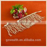 Hot sale custom design beaded fringes for garment trimming
