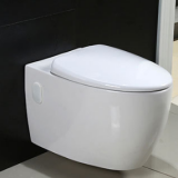 Bathroom promotion p trap round shape toilet bowl  sanitary ware ceramics wall hung back to wall toilet seat