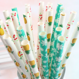 Biodegradable Paper Straws with pattern