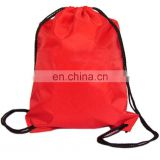 Durable outdoor nylon drawstring cinch sack sport travel bag backpack