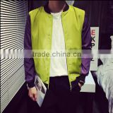 walsonstyles XXXXXL light color shining short coat baseball clothing men's plus size coat                                                                         Quality Choice