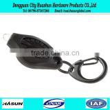 2016 wholesale low price black rubber keychain