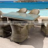Malaysia quality dining set wicker dining table set outdoor patio table
