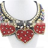 2015 hotting sale choker necklace, chunky necklace,colorful bead crystal choker necklace for woman