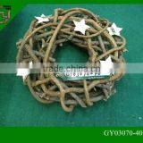 natural rattan wicker bulk Christmas wreaths