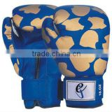 Top quality leather Boxing gloves with hand mold
