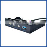 PANTO 3.5 Inch Floppy Drive Bay USB3.0+fast charge USB 2.1A +HD Audio PC Front Panel