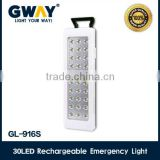 Rechargeable emergency light of 30pcs of 2835SMD LED,portable battery charger and saving energy led lamp