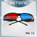 Promotional red blue 3d eyewear for movie plastic red-blue 3d glasses pictures porn 3d glasses red cyan glasses
