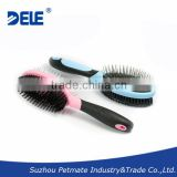 Free Samples Rubber Cushion Double Sided PET+Metal Pin Hair Brush Pet Product by China Supplier