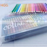 Hotsale 7''Hexagonal Color Painting and Color lead Pencil Set with transparent case