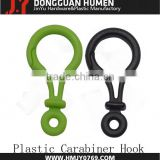 POM Material plastic carabiner clasp,plastic hook for bungee cord