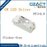 6w led panel light driver DC 350mA 6W flicker-free LED driver with UL CE SAA RoHS compliance