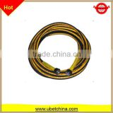 Good price and quality DN 6 with linen surface for washing / cleaning machine High pressure steel braided rubber hose