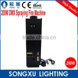 fire machine 200w dmx spray dj power flame thrower
