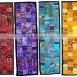 Exquisite vintage antique sari patchwork table runner-ethnic handmade indian table runner