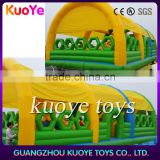 inflatable fun ciy with roof, inflatable jumping amusing park with cover, inflatable park rides sale
