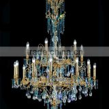 Latest Products in Market Modern Lampadari Hotel Lobby LED Glass Pendant Light Large Crystal Chandelier CZ2209/18