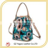 Ladies shoulder bag popular Occident women PVC bucket bag with chain                                                                                                         Supplier's Choice