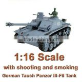 RC German Tank 1:16 remote control smoking tank