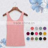 OEM High Quality 16 Colors Summer Style Women Tank Top Camisole,Cotton Slim Ladies Thin Vest
