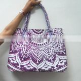 Indian Handmade Printed Cotton Bag Shopping Purse Designer Beach bag