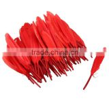 Free Shipping 100 Pcs/lot Red DIY Fluffy Dress Jewelry Hat Christmas Holiday Decoration Feathers