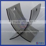 "China Factory hot design acrylic book display stands / acrylic ""X"" shaped stand for Book"