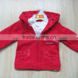 baby red coat with hood baby Infants casual coat